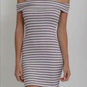 Dresses - NWT Striped Mini Dress like Fashion Nova